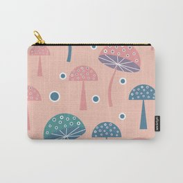 Dancing mushrooms in pink Carry-All Pouch