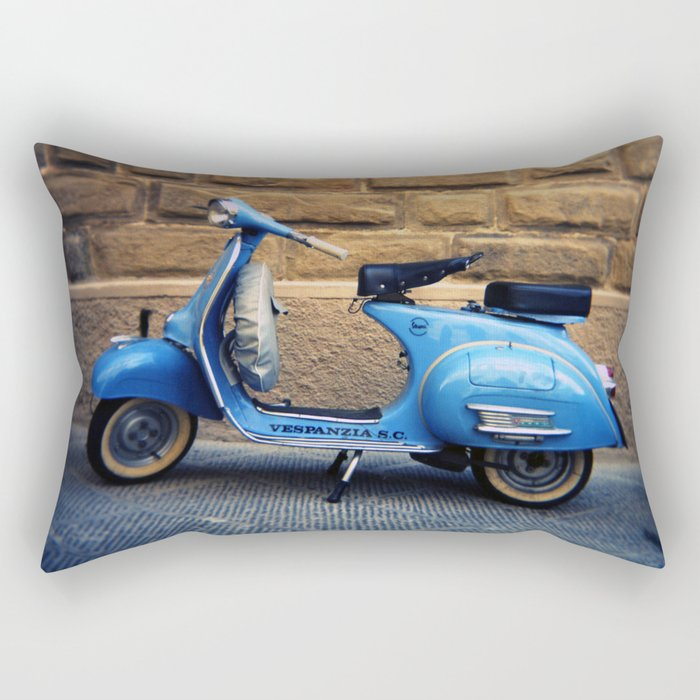 Blue Vespa, Italy Rectangular Pillow
