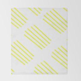 highlighter yellow stripes lasoffittadiste Throw Blanket