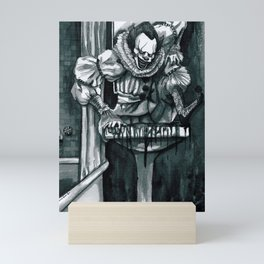 Clown in the Drain Mini Art Print