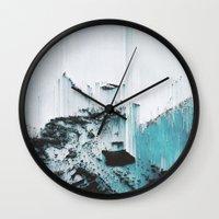 glitch Wall Clocks featuring Glitch by SUBLIMENATION