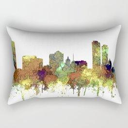 Milwaukee, Wisconson Skyline SG - Safari Buff Rectangular Pillow