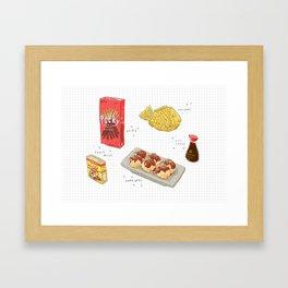 japanese snacks Framed Art Print