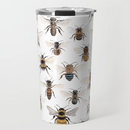 A Collection of Bees Travel Mug