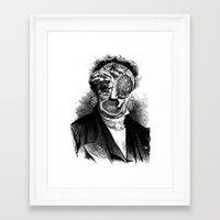 meat Framed Art Prints featuring MEAT by DIVIDUS