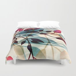 Flood of Leafs Duvet Cover
