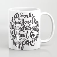 font Mugs featuring grand adventure by Matthew Taylor Wilson
