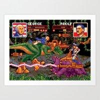 Jurassic President, Episode 1 – American History Rex Art Print