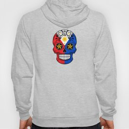 Sugar Skull with Roses and Flag of Philippines Hoody