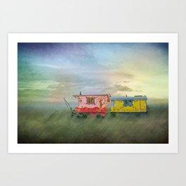gypsy caravans Art Print