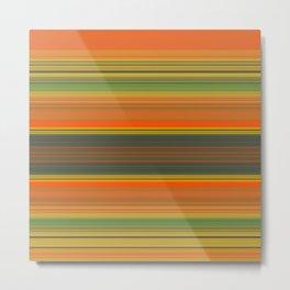 Retro Color Stripes Metal Print