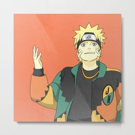Naruto X Martin Solo Metal Print