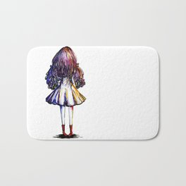 Faceless Girl and Red Doc Bath Mat