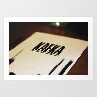 kafka Art Prints featuring Kafka. by tomwaitsforme