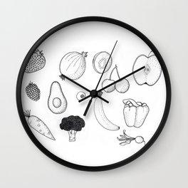 fruit & veg Wall Clock
