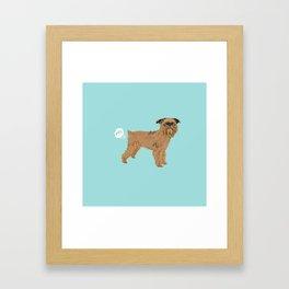 Brussels Griffon dog breed funny dog fart Framed Art Print