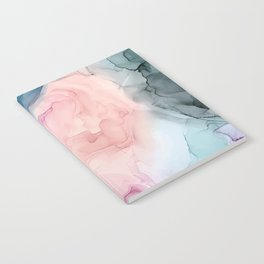 Dark and Pastel Ethereal- Original Fluid Art Painting Notebook