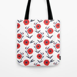 Summer Poppies Tote Bag