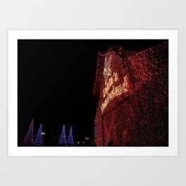 Santa's Wonderland-College Station Art Print