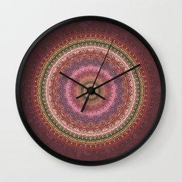 Mandala Bohemian Candlelight Wall Clock
