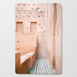Colors of Marrakech Morocco - El badi palace photo print | Pastel travel photography art Cutting Board