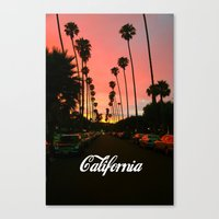 california Canvas Prints featuring California by Tumblr Fashion