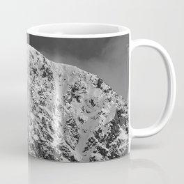 Fresh Snow in Portage Valley, Alaska - B & W Coffee Mug
