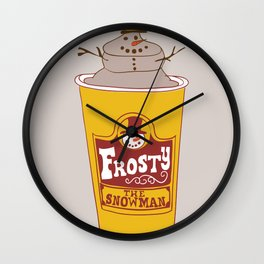 Frosty the Snowman Wall Clock