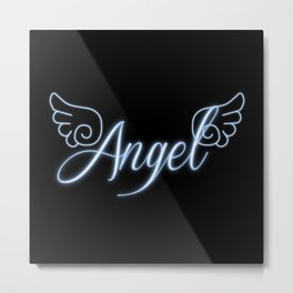 Angel with Wings Metal Print