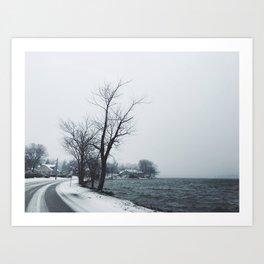 Lake in Winter Art Print