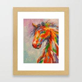colorul horse Framed Art Print