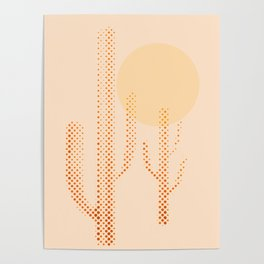 dusty cactus Poster