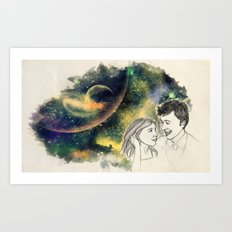 When we're together Art Print