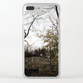 Spooky town Clear iPhone Case