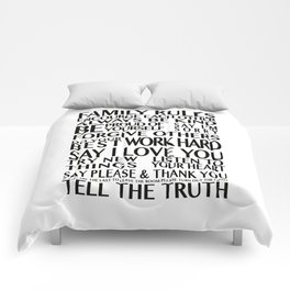 Family Rules 2 Comforters