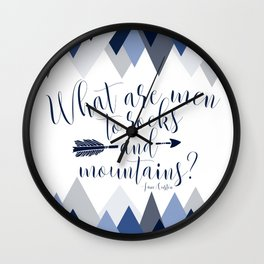 Pride & Prejudice - Mountains Wall Clock