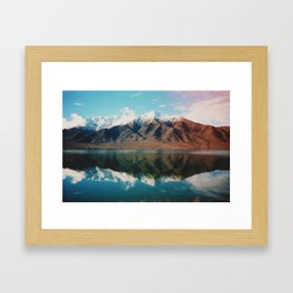 Film photo of New Zealand Glacier Landscape Framed Art Print