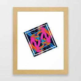 Square palms Framed Art Print