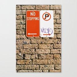 Signage Canvas Print