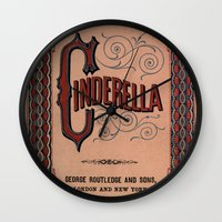 book cover Wall Clocks featuring Cinderella Book Cover by proudcow