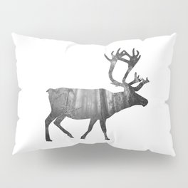 Moose Silhouette | Forest Photography Pillow Sham