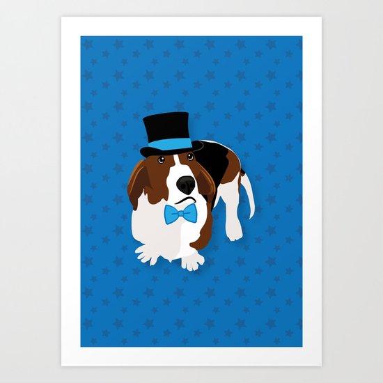 Bassets in Hats - Fancy Basset Art Print