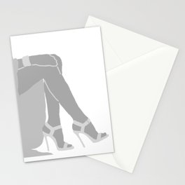 WOMAN light - shoes , leg , high heels Stationery Cards