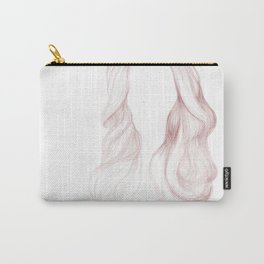 Red Wavy Hair Carry-All Pouch