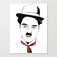 charlie chaplin Canvas Prints featuring Charlie Chaplin by ArpanDholi