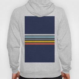 Abstract Minimal Retro Stripes 70s Style - Takakage Hoody