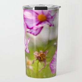 Bunch of Cosmos Bipinnatus flowers Travel Mug
