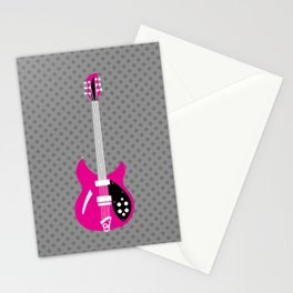 Magenta Rickenbacker 330 Stationery Cards
