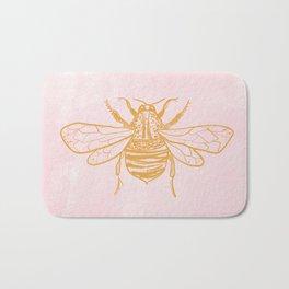 light pink bumblebee Bath Mat