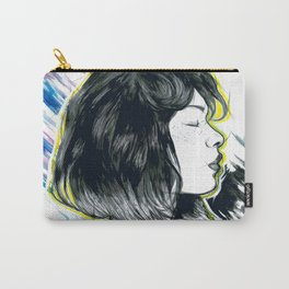 Girl Profil Drawing Carry-All Pouch